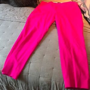 Banana republic bright pink pants.